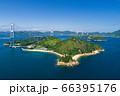 馬島と来島海峡(しまなみ海道) 空撮 66395176