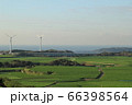 三浦市に広がる大根畑と海そして風車と城ケ島 66398564