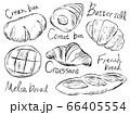 パンやバケットの白黒手描きイラストイメージ 66405554