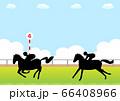 競走馬と競馬場 66408966