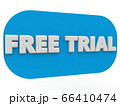 Free trial concept on blue banner 66410474