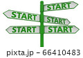 Signpost with start concept 66410483