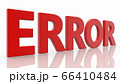 Error concept in red on white 66410484