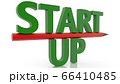 Start up concept with pencil 66410485