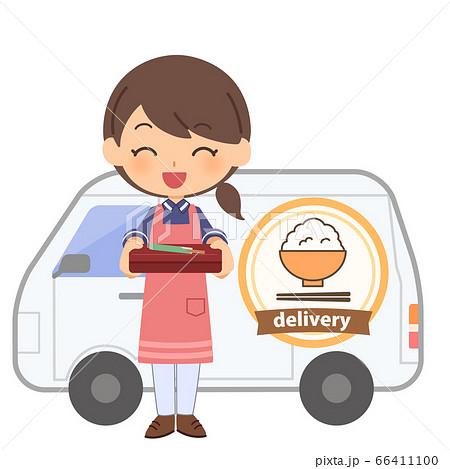 配食サービス 車 女性 66411100