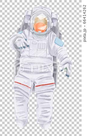 宇航員的水彩插圖 66414262