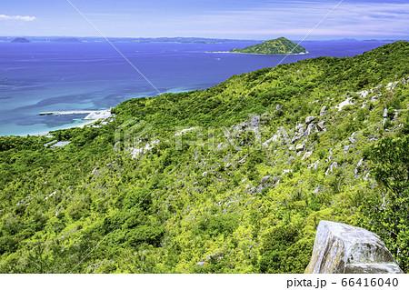 立石山登山道から見た糸島の美しい風景 福岡県糸島市 66416040