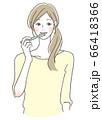 歯を磨く女性 66418366