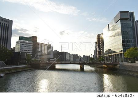 福博であい橋から撮った夕方の那珂川 66428307