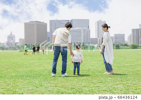 公園で遊ぶ親子(新しい生活様式イメージ) 66436124