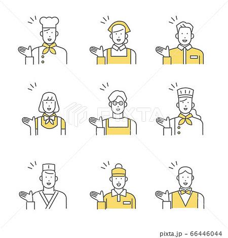 飲食業界で働く人たち ポジティブ 66446044