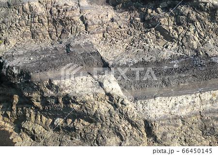 【地学教材用】三浦半島城ヶ島の断層露頭(スケールなし) 66450145