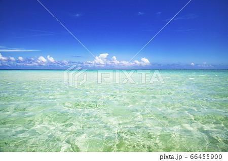 百合ヶ浜から見た与論島の海の風景 66455900