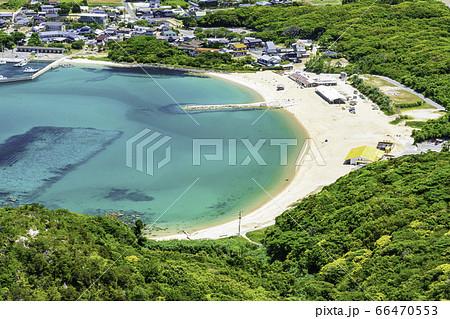 立石山から見た糸島の美しい風景 芥屋海水浴場 福岡県糸島市 66470553