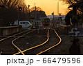 夕暮れの真岡鐵道 66479596