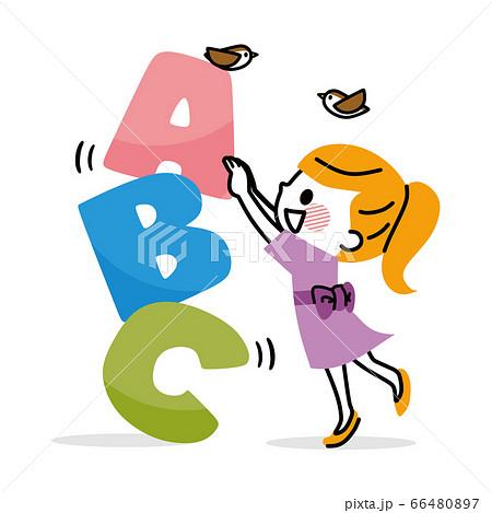 アルファベット 子ども 英語 66480897