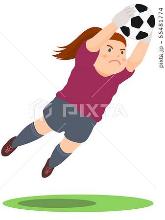 サッカー ゴールキーパー 女子 66481774