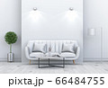 Living room interior in modern style, 3d render with sofa and decorations. 66484755