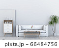 Living room interior in modern style, 3d render with sofa and decorations. 66484756