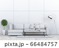 Living room interior in modern style, 3d render with sofa and decorations. 66484757