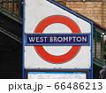 ウェスト・ブロンプトン駅の看板 66486213