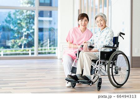 介護 シニア 女性 病院 ヘルパー 介護士 66494313