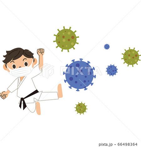 ウイルスと闘う格闘家 男子 66498364