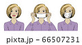 Woman wearing protective medical mask for prevent virus. 66507231