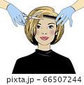 Beautiful woman in a hair salon. 66507244