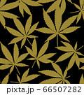 Cannabis or Marijuana leaves in gold. 66507282