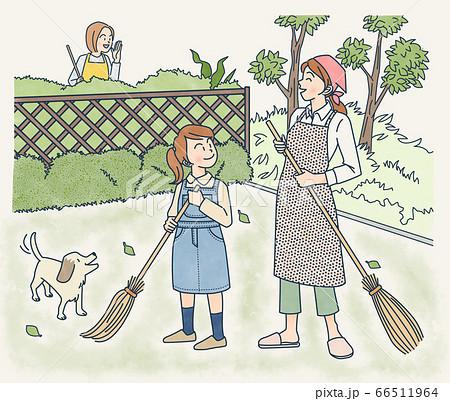 庭掃除 66511964