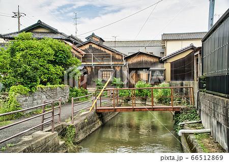 【懐かしい風景】西川と西大寺の町並み2 岡山県岡山市東区 66512869