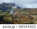 立山から見下ろした紅葉の室堂、みくりが池、雷鳥荘 66545802