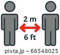 Keep safe social distance sign 66548025