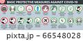 Basic protective measures against coronavirus disease COVID-19 66548028
