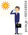 水分補給をするビジネスマン 66548604
