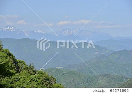 【岐阜県 高山市】宇津江四十八滝の展望所から見た北アルプス 66571696