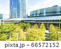 緑の多いオフィス街の風景 66572152