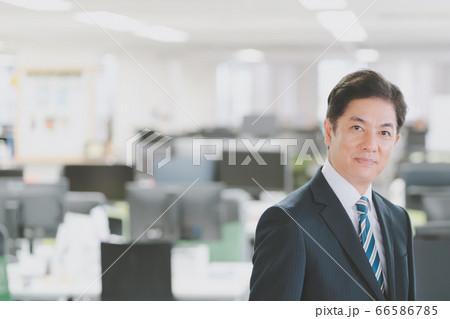 オフィスの50代ビジネスパーソン  66586785
