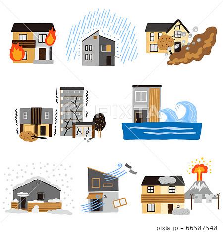 住宅に関係する災害のセット 66587548