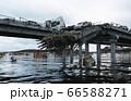 Apocalypse sea view. Destroyed bridge. Armageddon concept. 3d rendering. 66588271