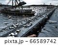 Apocalypse sea view. Destroyed bridge. Armageddon concept. 3d rendering. 66589742