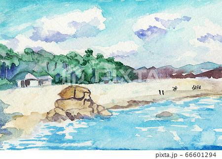 冬の桂浜 66601294