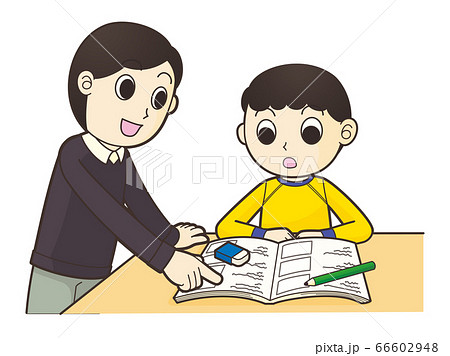 勉強を教える親 66602948