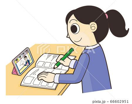 スマートフォンでオンライン授業 66602951