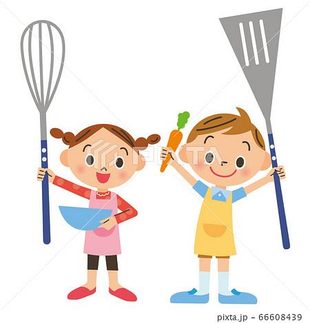 料理を楽しむ子供達 66608439