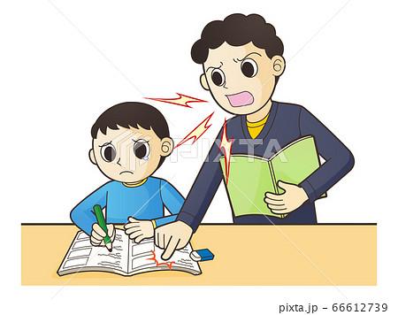 勉強ができない子供を叱りつける 66612739