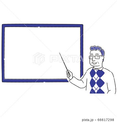 手描き1color シニアの男性眼鏡 発表 66617298