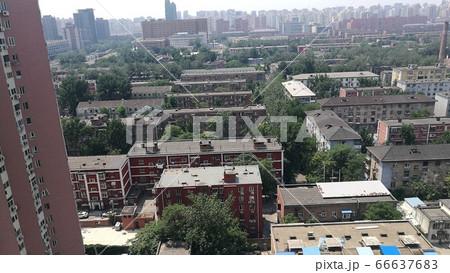北京 朝陽区高層ビルからの俯瞰② 66637683