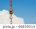 Construction crane With a blue sky background 66639314